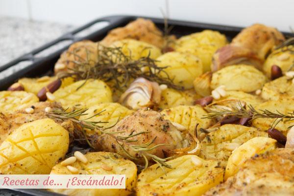 Receta de asado de pollo con patatas