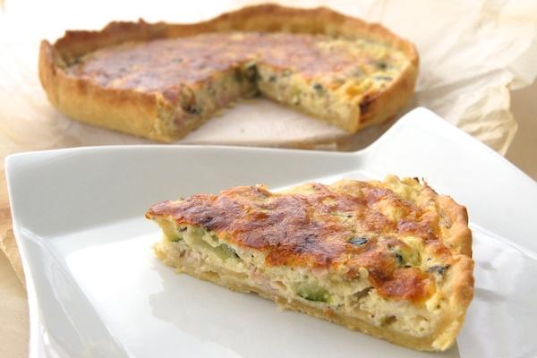 Quiche de jam n queso y calabac n recetas de esc ndalo for Quiche de verduras facil