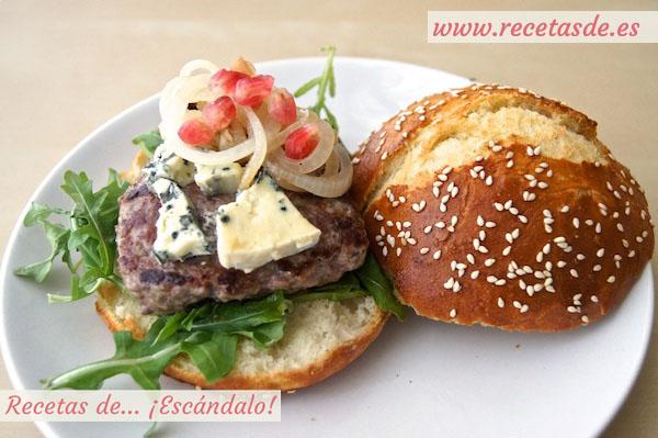 Receta de hamburguesa con pan casero