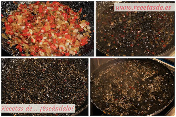 Receta de arroz negro con calamares y salsa alioli casera