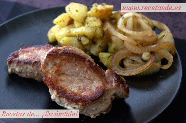 Receta de solomillo de cerdo con salsa roquefort