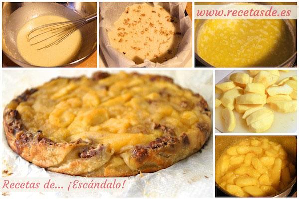 Receta de tarta de manzana casera, jugosa y muy fácil