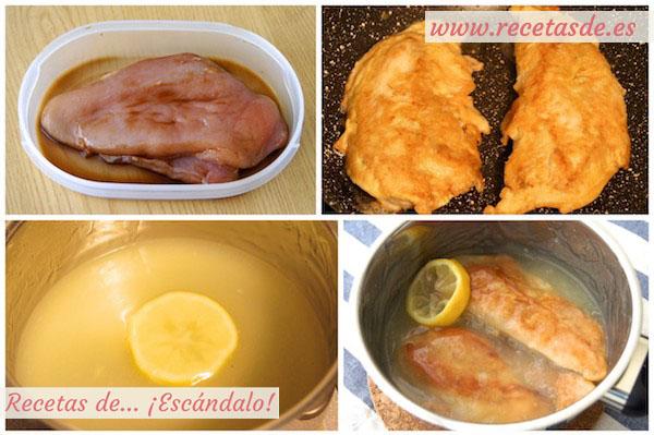 Receta de pollo al limón estilo chino