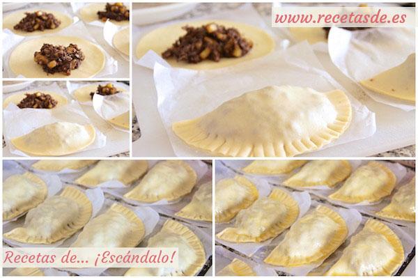 Cómo hacer empanadillas de morcilla y manzana con Pedro Ximénez