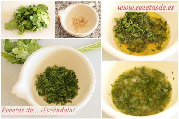 Cómo preparar salsa verde para pescado