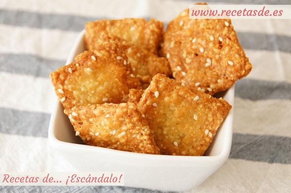Receta de galletas saladas de mantequilla y queso