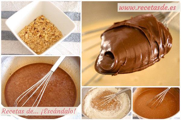 Cómo hacer bizcocho marmolado de yogur y Nutella, muy esponjoso