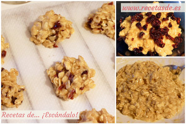Cómo preparar galletas caseras de avena con arándanos