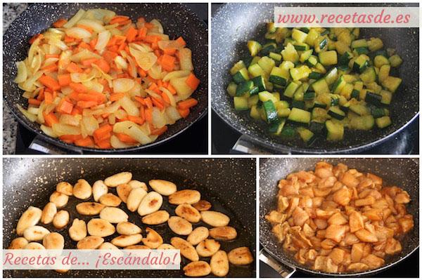 Preparar pollo con almendras al estilo chino