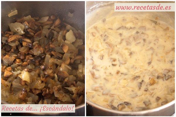 Receta de salsa de champiñones sin nata para carne o pasta
