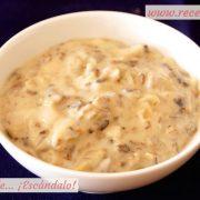 Salsa de champiñones sin nata para carne o pasta