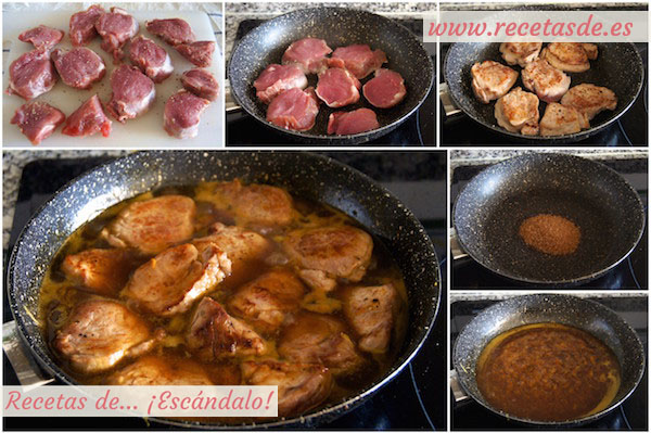 Cómo hacer solomillo de cerdo en salsa a la naranja