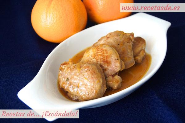 Receta de solomillo de cerdo en salsa a la naranja