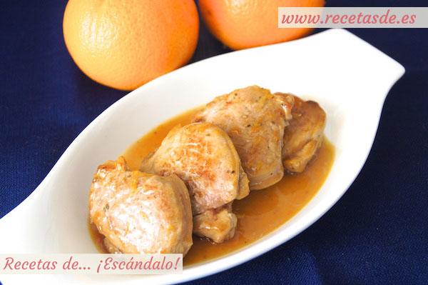 Solomillo de cerdo en salsa a la naranja