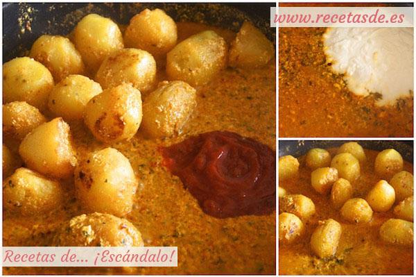 Cómo hacer la receta de patatas al microondas con curry rojo y yogur