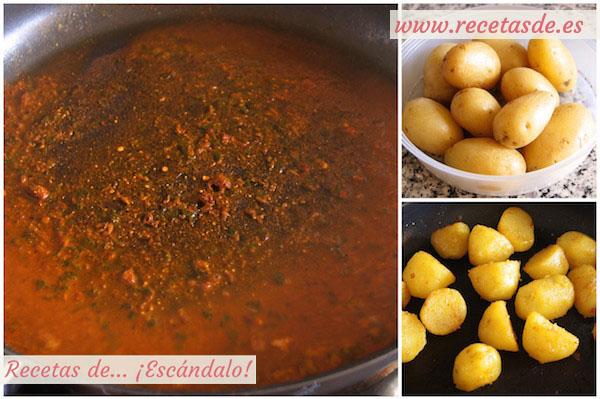 Cómo preparar patatas al microondas con curry rojo y yogur