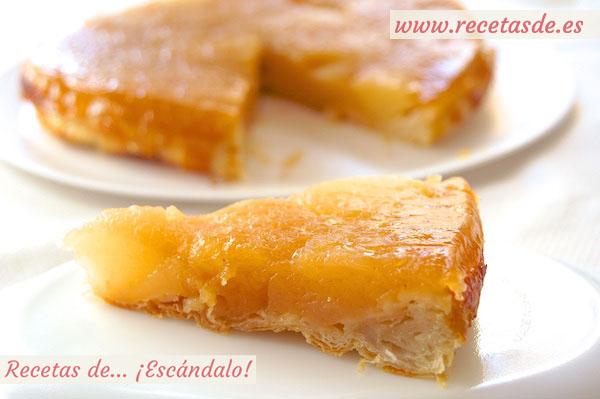 Tarta tatin de manzana con hojaldre, casera y fácil