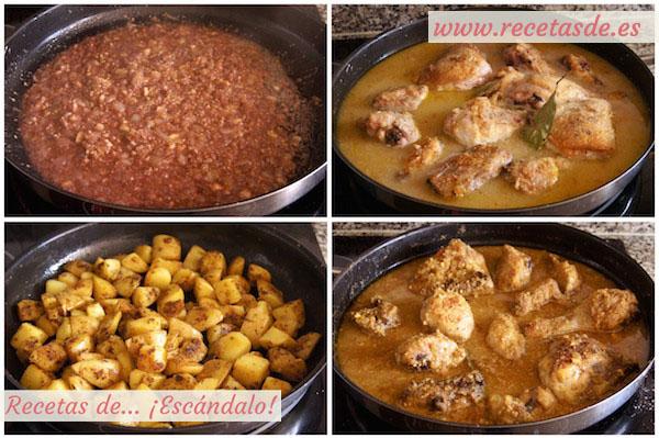 Cómo hacer pollo en pepitoria. Receta tradicional