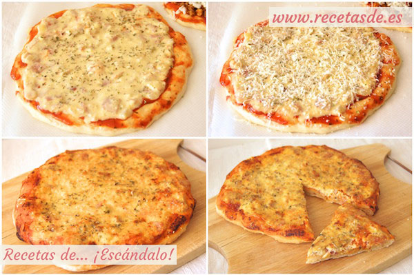 Cómo hacer la receta de pizza carbonara con masa de pizza casera