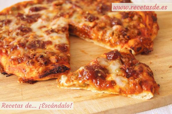 Pizza Barbacoa Con Masa De Pizza Casera Recetas De Escándalo