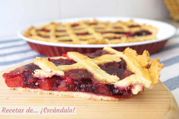 Receta de tarta de cerezas americana o Cherry Pie