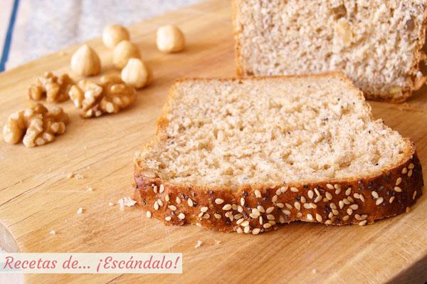 Como hacer la receta de pan de molde integral con semillas y frutos secos casero