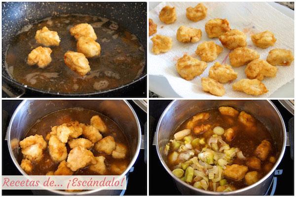 Como hacer la receta de pollo a la naranja al estilo chino con arroz basmati