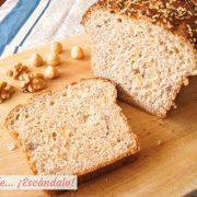 Como hacer pan de molde integral con semillas y frutos secos casero