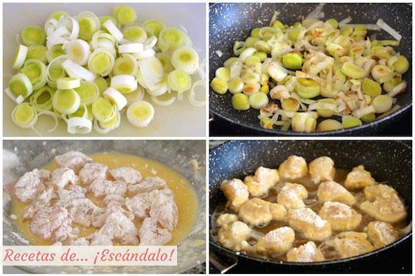 Como preparar pollo a la naranja al estilo chino con arroz basmati