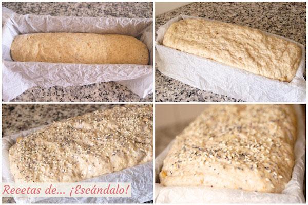 Fermentación de la masa del pan de molde casero