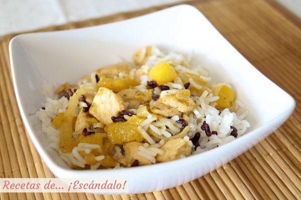 Como hacer ensalada de arroz y pollo al lemongrass con mango