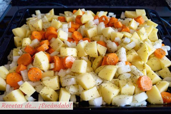 Verduras para la paletilla de cordero lechal asada
