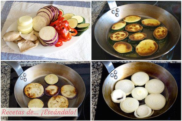 Como hacer la receta de verduras a la plancha salteadas