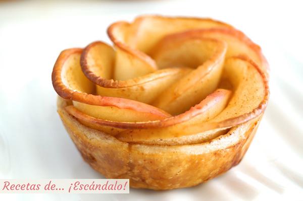 Receta de rosa de manzana y hojaldre