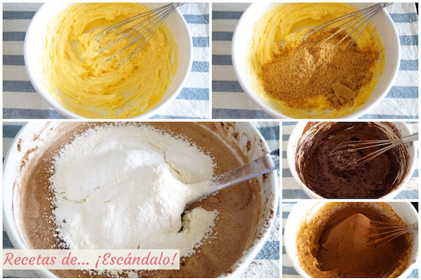 Preparacion del bizcocho para la Tarta Sacher