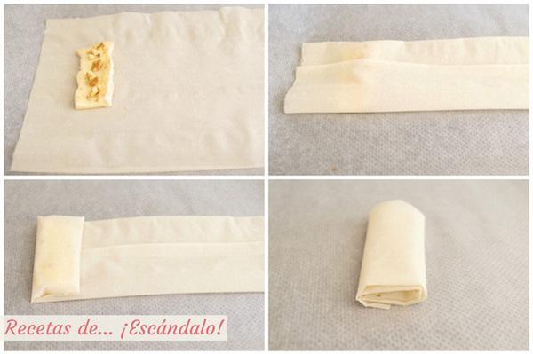 Crujientes de queso brie y pasta filo
