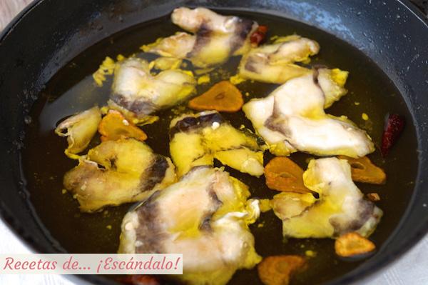 Receta de cocochas o kokotchas al ajillo