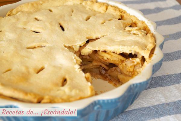 Receta de la tarta de manzana americana apple pie