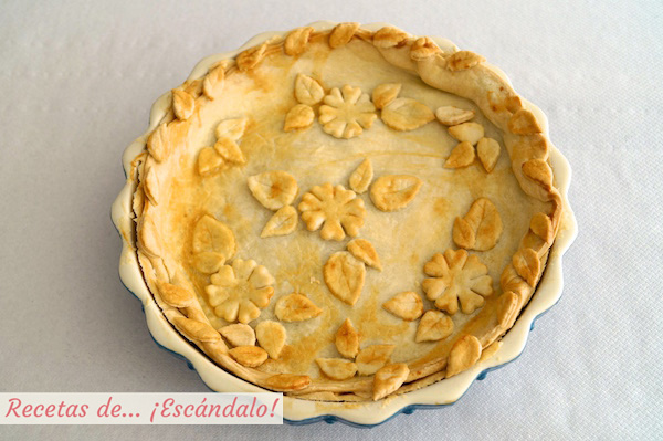 Version decorada tarta de manzana americana apple pie