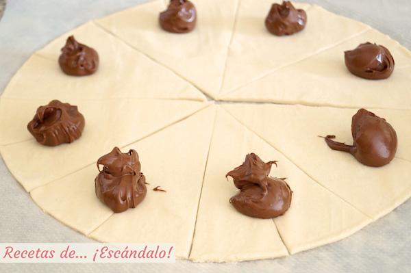 Relleno de los croissants de Nutella