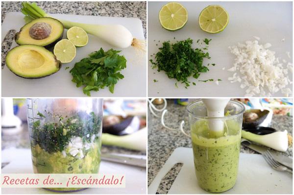 Receta de salsa de aguacate para la ensalada de pasta