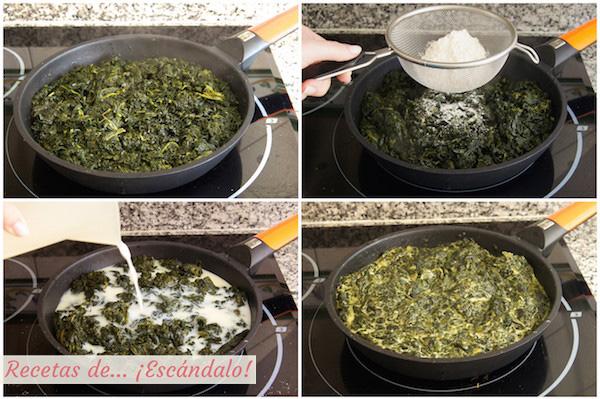Como preparar espinacas a la crema gratinadas