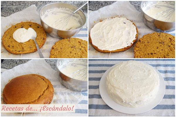 Como hacer carrot cake o tarta de zanahoria casera