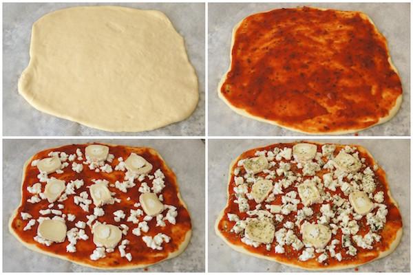 Como hacer pizza 4 quesos con masa de pizza casera