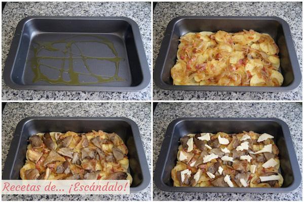 Receta patatas al horno gratinadas o tartiflette