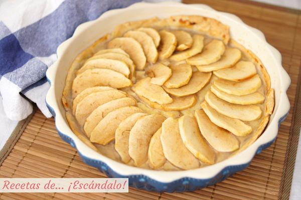 Tarta de manzana con crema pastelera casera y masa quebrada