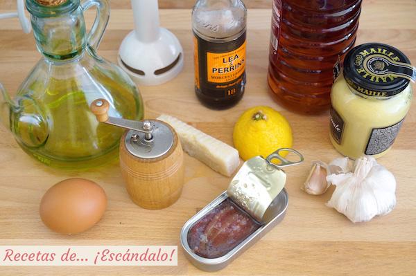 Ingredientes de la salsa cesar casera