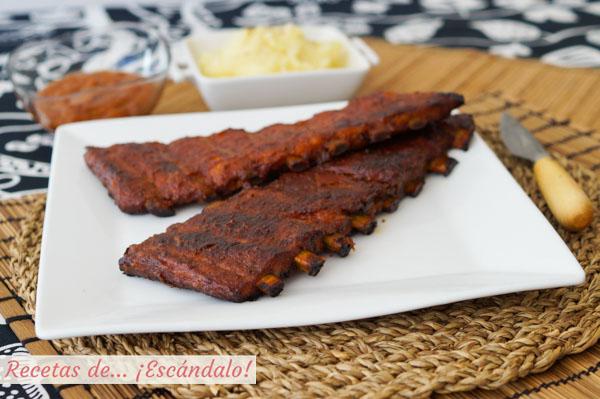 Receta de costillas de cerdo al horno con salsa barbacoa casera