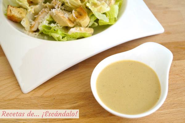 Receta de salsa cesar casera, muy facil