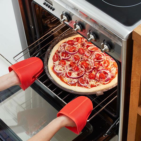 molde de silicona redondo perforado para hornear pizzas